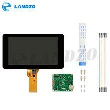 Ban Đầu Chính Thức Raspberry Pi 7 Inch TFT LCD Màn Hình Cảm Ứng Che Chắn Màn Hình Hiển Thị Màn Hình 800*480 Stander Bộ