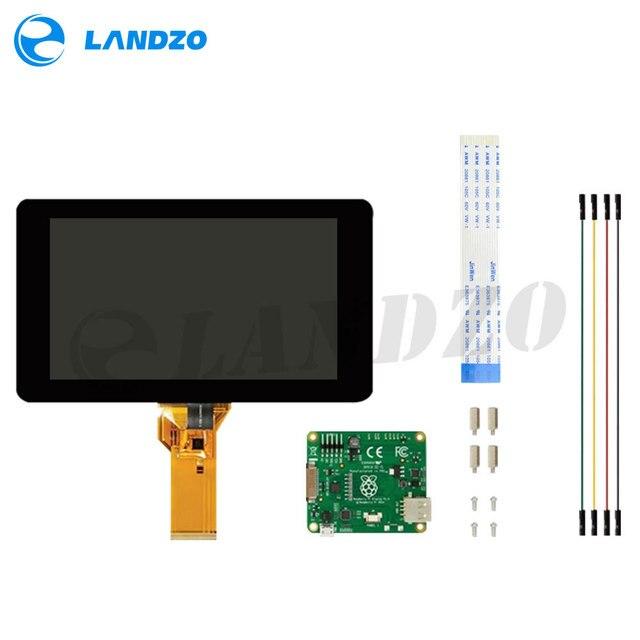מקורי רשמי פטל Pi 7 אינץ TFT LCD מגע מסך מגן צג תצוגת 800*480 סטנדר ערכת