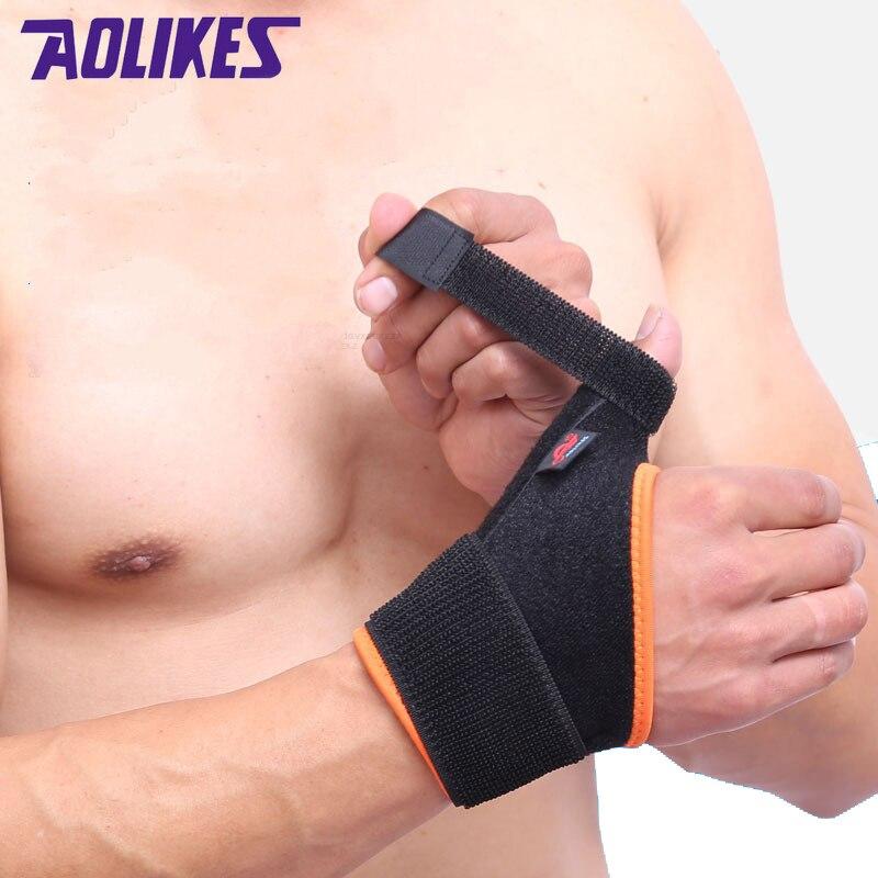 Prix pour AOLIKES 1 Pcs Pouce Entorse De Protection Support de Poignet Wraps Tendon Gaine Fracture Fixe Souris Doigt Correction Sécurité dans les Sports
