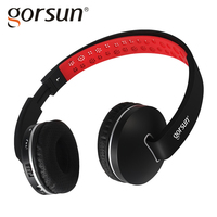 GORSUN E85 Wireless Bluetooth Headphone Stereo Shock Bass Elastic Folding Long Standby Microphone Large Compatible Music