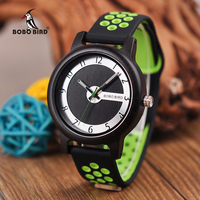 BOBO BIRD Women Watches Men relogio femininoTop Brand Design Wood Bamboo Wristwatch Male Silicone Strap Ladies quartz clock