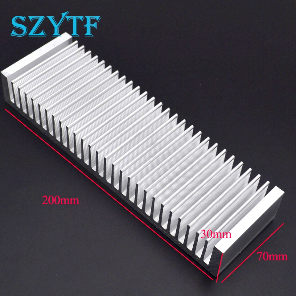 1pcs Heat sink 200*70*30MM (silver) high-quality ultra-thick aluminum radiator synthetic graphite cooling film paste 300mm 300mm 0 025mm high thermal conductivity heat sink flat cpu phone led memory router
