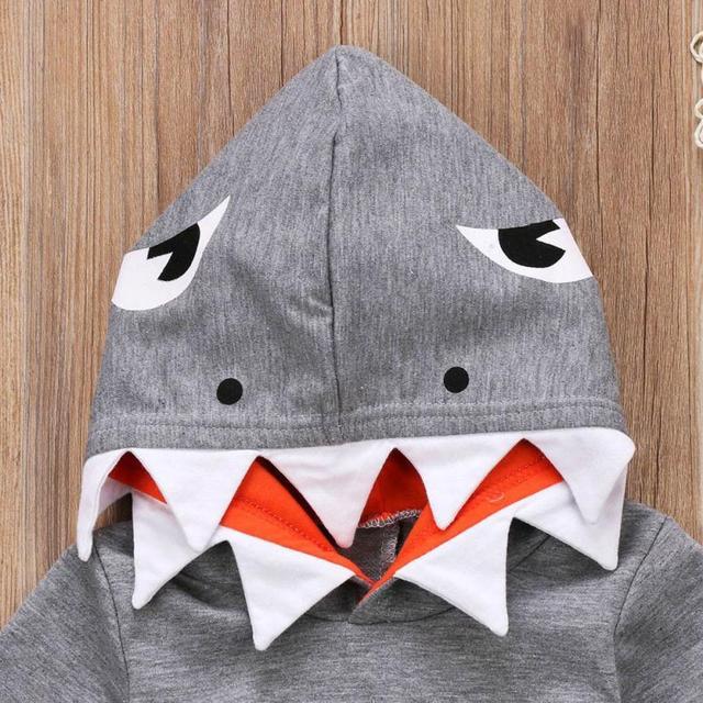 Kid's Shark Style Cotton Hoodie 5