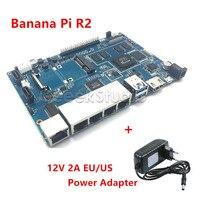 Banana Pi R2 BPI R2 Quad Core 2GB RAM With SATA WiFi Bluetooth 8GB EMMC 12V