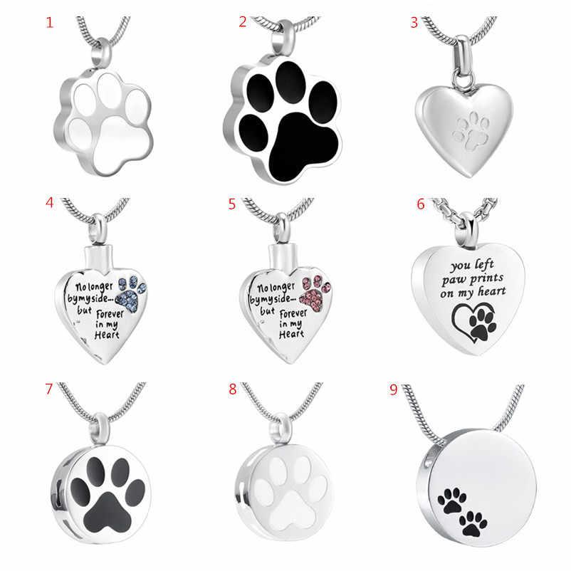 cat paw print cat remembrance pet remembrance pendant Paw print heart pendant dog keepsake jewelry cat keepsake dog paw print