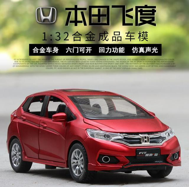 1:32 Toy Car Honda Fit Metal Toy Alloy Car Diecasts & Toy Vehicles Car Model Wolf Warriors Model Car Toys For Children
