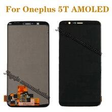 """6.01 """"per Oneplus 5T A5010 Amoled LCD Monitor + di Tocco Digitale di Vetro per Oneplus 5T display LCD accessori di riparazione + Strumenti"""