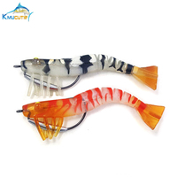 2pcs salt water soft shrimp craft series Highest Quality 17g soft shrimp  Lead head hook fishing lures