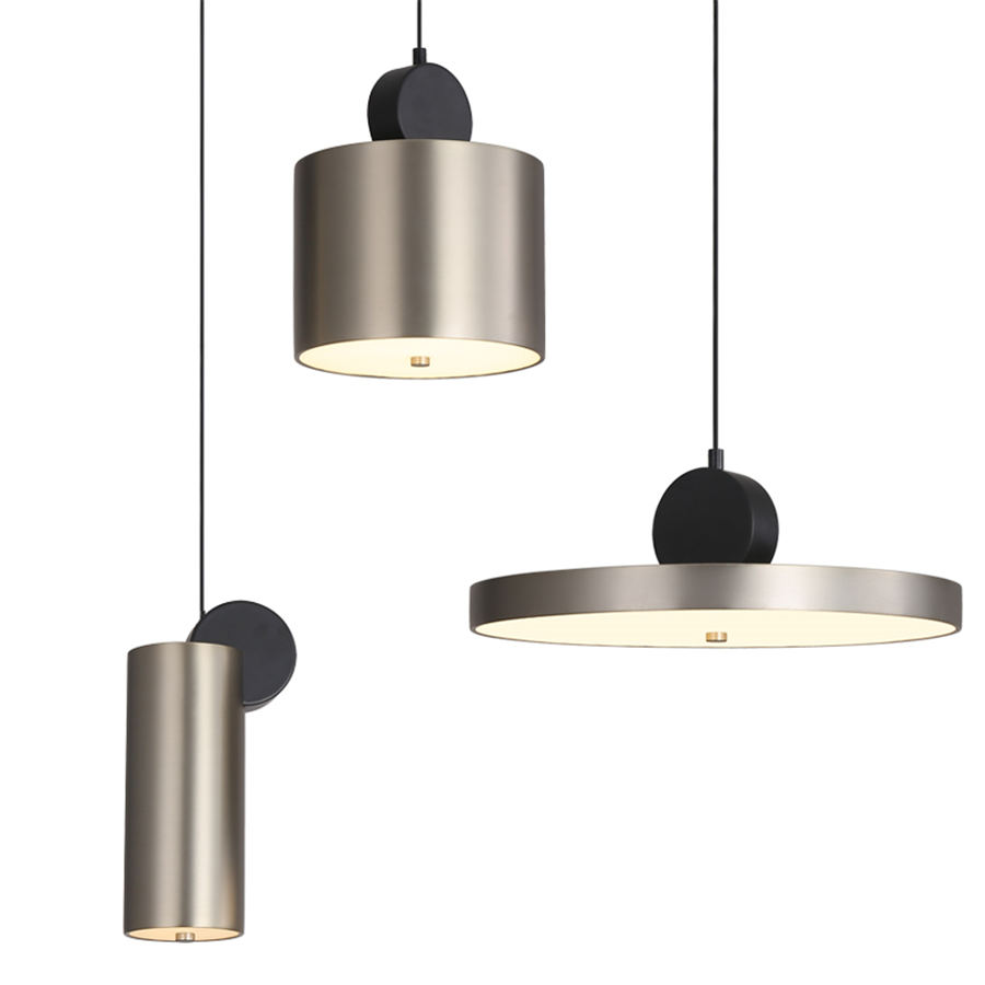 Postmodern Stainless Steel Ceiling Lamp