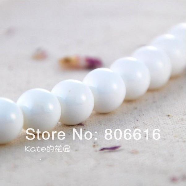8 mm 96 pcs perles rondes en pierre naturelle Tridacna lâches Strands Semi  - précieuses bijoux accessoires 2f6f55d6164