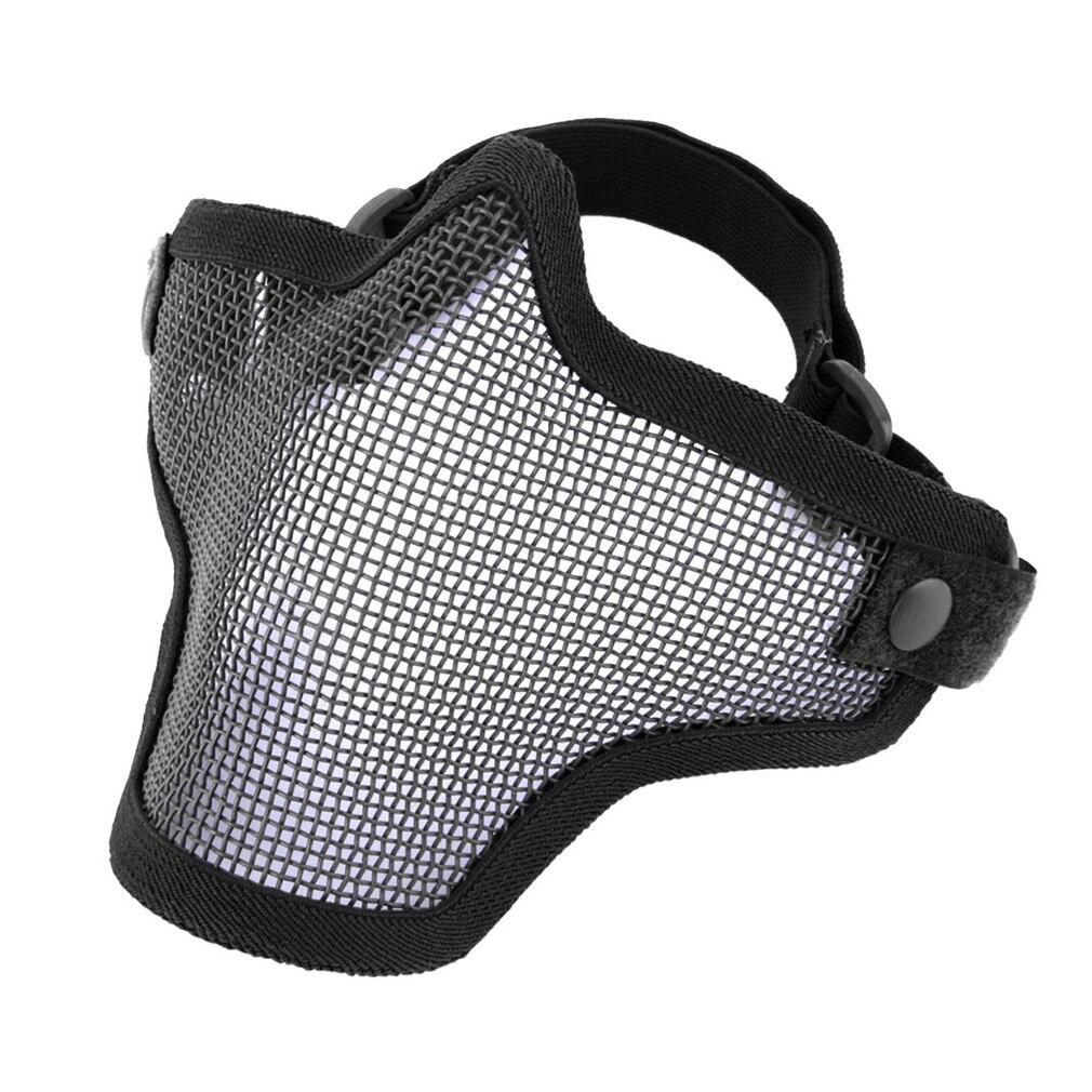 Cyclisme Moitié Inférieure Visage vélo maks Métal Acier Net Mesh Chasse Tactique De Protection Airsoft Masque Gofuly drop shipping