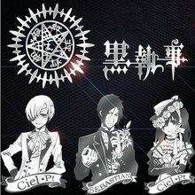 PowerAngel 7pcs lot Phone Laptop DIY Metal Sticker Anime Black Butler Decal Stickers Skateboard Sticker Toy