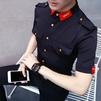 Shirts Mens White Military Shirts With Epaul Aeronautica Militare Men 2017 Mens Work Shirts Club Outfits Black Camisas Slim Fit