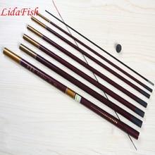 Hot-selling anti-skid hand retractable fishing rod FRP fishing rod ultra-light 3.6M 4.5M 5.4M 6.3M Free Shipping