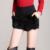 2016 Nuevo de Las Mujeres Pantalones Cortos de Lana de Moda Otoño Invierno Cintura Elástica sólido Negro Shorts Imitación de Piel de Conejo Corto Más Tamaño femme mujer