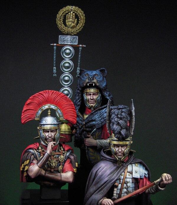 Oyuncaklar ve Hobi Ürünleri'ten Modeli Yapı Setleri'de Yeni Demonte 1/12 Olabilir Roma dahil 3 büstü asker Reçine Kiti DIY Oyuncaklar Boyasız reçine modeli'da  Grup 1