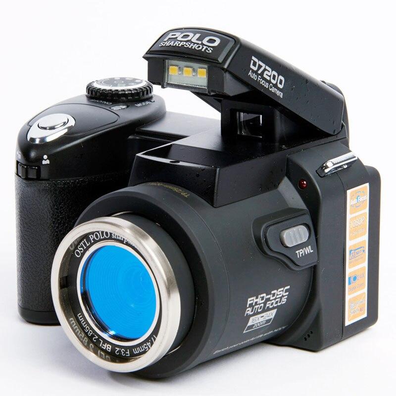 Protax professionnel amélioré Protax POLO SLR D7200 13 méga Pixels caméra numérique HD avec objectif Interchangeable