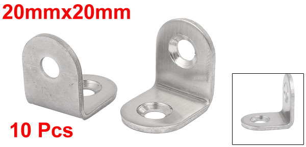20mmx20mm/25mmx25mm /30mmx30mm /40mmx40mm Stainless Steel 90 Degree Corner Brace Angle Bracket Connector 10pcs 2pcs set stainless steel 90 degree self closing cabinet closet door hinges home roomfurniture hardware accessories supply