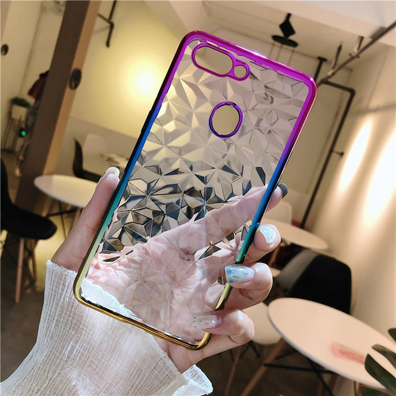 3D Gradient Plating Solf TPU Phone Case For BBK OPPO A3 A5 A71 A83/A1 F7 F9 Pro R15 Pro Dream A77 F5 Youth/A73 R11S Plus