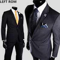LEFT ROM High quality men one button slim small suit groom best man Full dress coat/Male 2018 senior fashion Suit Jacket Men's