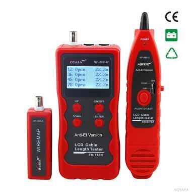 Цифровой тестер кабелей NOYAFA, многоцелевой тестер кабелей для проверки длины, поиск сетевого кабеля, тестер Lan