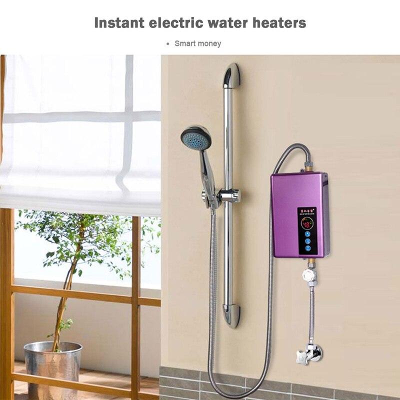 Calentador de agua Kbxstart, grifo de baño, Calentador de agua inteligente instantáneo, Calentador de agua eléctrico 5500W - 4