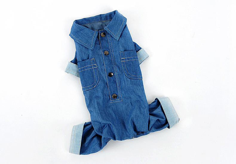 New cool fashion dogs cats denim jumpsuits doggy spring autumn winter tracksuits costume puppy overcoat pet dog suit 1pcs