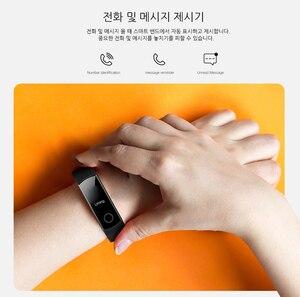 Image 4 - Смарт браслет Huawei Honor Band 4 0,95 цветной Amoled сенсорный экран для плавания 50 м водонепроницаемый датчик пульса и сна