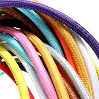 2*0.75 10 M/grup Edison Tekstil Kablo Kumaş Tel Avize Kolye Lamba Teller Örgülü Kumaş Elektrik Kablosu Bağbozumu Lamba kordon