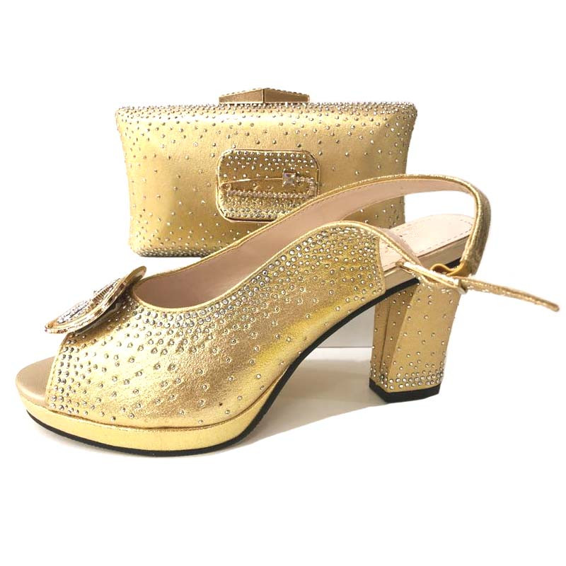 New Arrival Italian Ladies Shoes and Bags To Match Set Nigeria Wedding Shoes and Bag African Ladies Shoes with Matching Bag Set italian gold color italian ladies shoes and bags to match set nigerian shoes and matching bag african wedding shoes and bag set