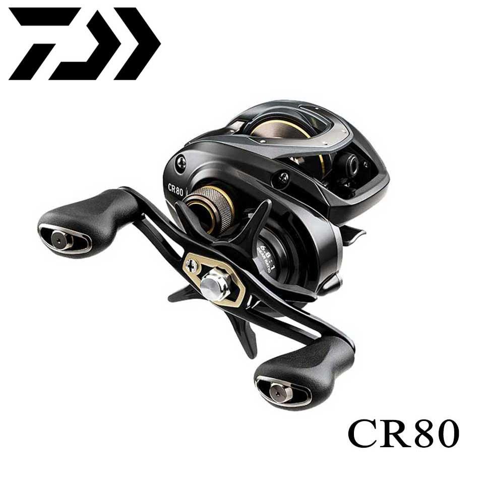New DAIWA CR80/CC80 Baitcasting fishing reel 7kg Power 195g Light weight Reduce resistance Design strength body Smoothly curado 200hgk