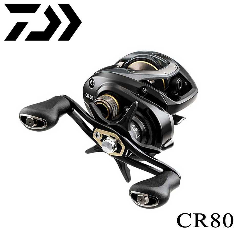 New DAIWA CR80/CC80 Baitcasting Fishing Reel 7kg Power 195g Light Weight Reduce Resistance Design Strength Body Smoothly