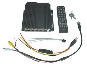 Image 3 - EL kit DVR para coche de 4 canales más barato, MDVR con menú ruso/Inglés, Registrador de vídeo para automóvil de 4 canales para autobuses y camiones