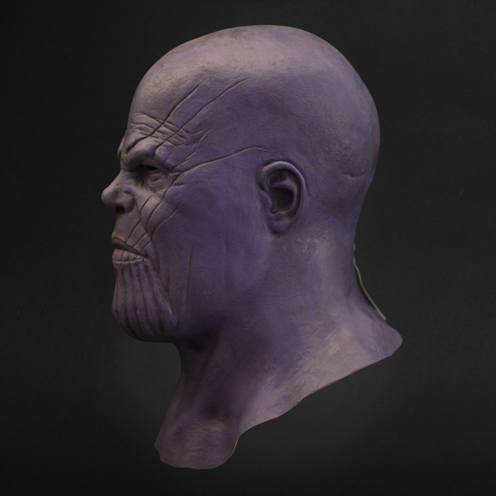 Thanos Mask Cosplay Avengers Endgame Thanos Costume Accessory Latex Masks Full Face Helmet Halloween Carnival Party Props1