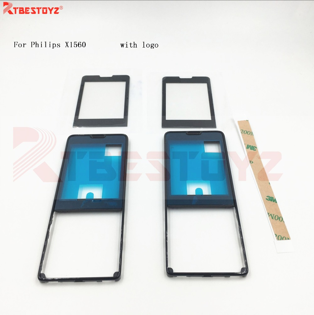 RTBESTOYZ For Philips X1560 Touch Digitizer Glass Screen +Front Housing Black By Free Shipping