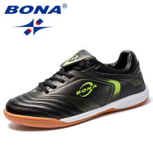 BONA New Arrival Classics Style Men Soccer Shoes Lace Up Men