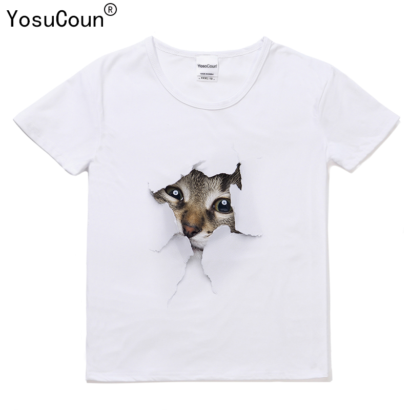Brand Printing T-shirt Boys Girls Shirts 3D Cat T shirt Kids Tops Baby Girls Boys Short Sleeve Summer Children Clothes T223X