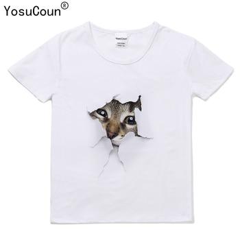 Di marca di Stampa di T-Shirt Delle Ragazze Dei Ragazzi Camicette 3D Cat T shirt Bambini Magliette e camicette Del Bambino Delle Ragazze Dei Ragazzi Del Manicotto Del Bicchierino di Estate Vestiti Dei Bambini t223X