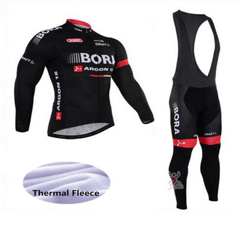 2017 Cycling Jersey Set Men Bike Riding Winter Long Sleeve Cycling Suits Breathable MTB Cycling Jersey Clothing Jersey Set