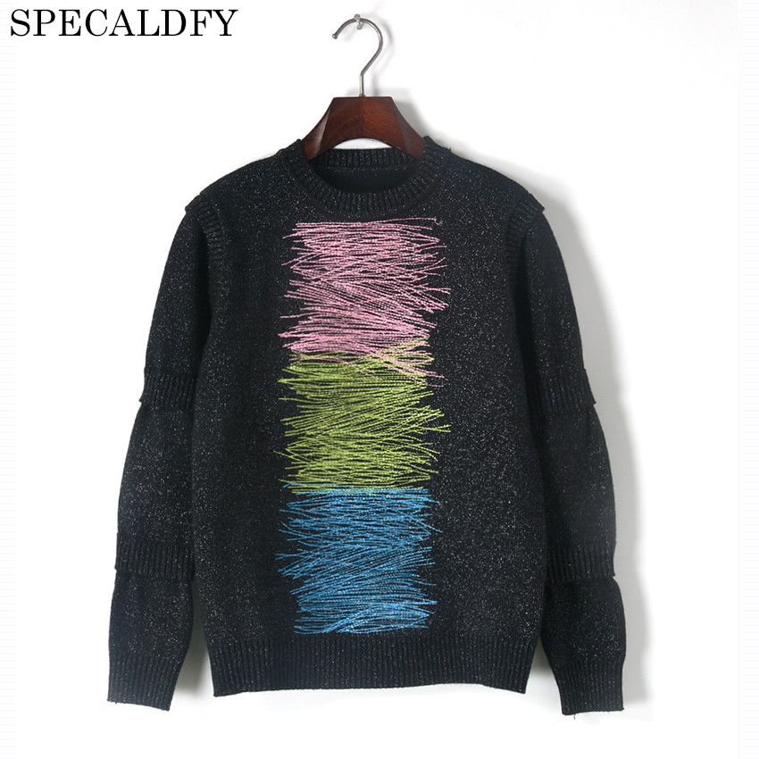 2018 New Fashion Spring Winter Knitted Sweater Women Sweaters And Pullovers Runway Designer Luxury Brand Jumper Knitwear Tops