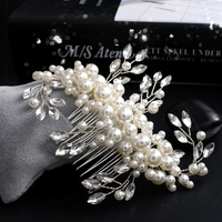 Handmade Srebrny grzebień włosów dla nowożeńców white pearl włosów chluba prom akcesoria do włosów ślubne akcesoria do włosów ślubne biżuteria w stylu vintage