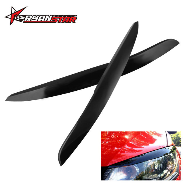 Car Headlight Eyebrow Eyelids Sticker Cover Trim Accessories Car Styling for Volkswagen VW Polo MK5 2011 2017