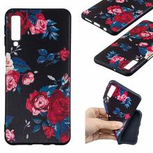Silicone Phone Case For Samsung Galaxy A6 2018 A7 A8 Mobile Protective Back Cover