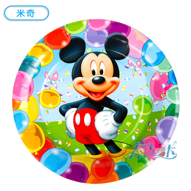 6pcs 7inch diameter 18cm Mickey mouse design Paper Plates for Kids Birthday Party Decoration Supplies  sc 1 st  AliExpress.com & 6pcs 7inch diameter 18cm Mickey mouse design Paper Plates for Kids ...