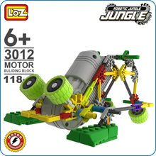 LOZ ideas Motor Building Block Robotic Frog Robot Jungle Action Model font b Toys b font