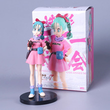 лучшая цена Dragon Ball Z Bulma Banpresto Figure Colosseum PVC Action Figure Collectible Model Toy 18CM