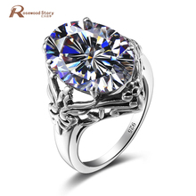Brand Luxury Crystal Angels Ring CZ Jewelry Cubic Zirconia Rings For Women Vintage 925 Sterling Silver December Birthstone Rings