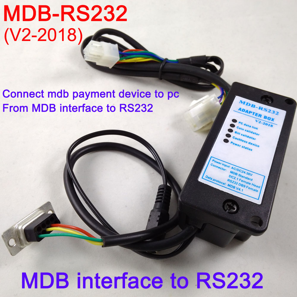 MDB RS232 MDB to PC converter, the MDB payment device data to PC RS232 (MDB coin validator,bill acceptor and cashless device)