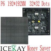 В P6 192*96 мм 32*16 пикселей Крытый 1/8 сканирования 3in1 SMD RGB полноцветный светодиодный модуль для внутреннего P6 светодиодный экран дисплея