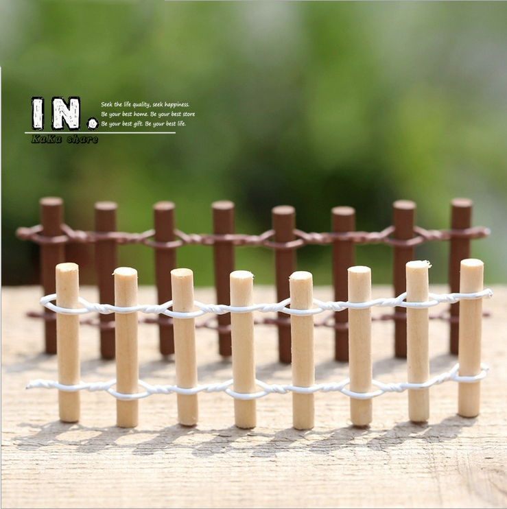 2015 Micro landscape <font><b>decor</b></font> succulent mini wooden Fences toys fairy garden ornament/doll house/miniature figurine DIY accessories